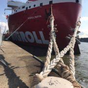 rolldock schip in dehaven van rotterdam