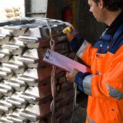 controle van aluminium voor opslag