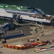overzichtsfoto terminal p&o ferries europoort rotterdam
